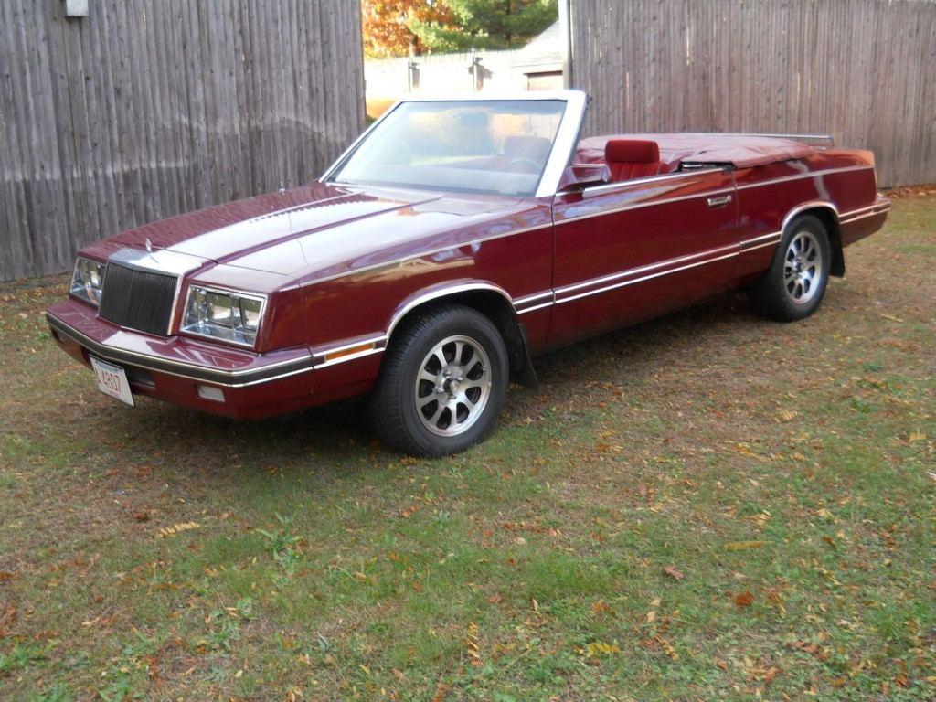 1982 Chrysler Lebaron Convertible For Sale
