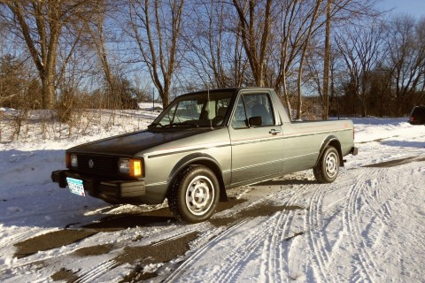 1982 Volkswagen Rabbit Pickup Black Tie Special Edition Diesel Caddy for sale