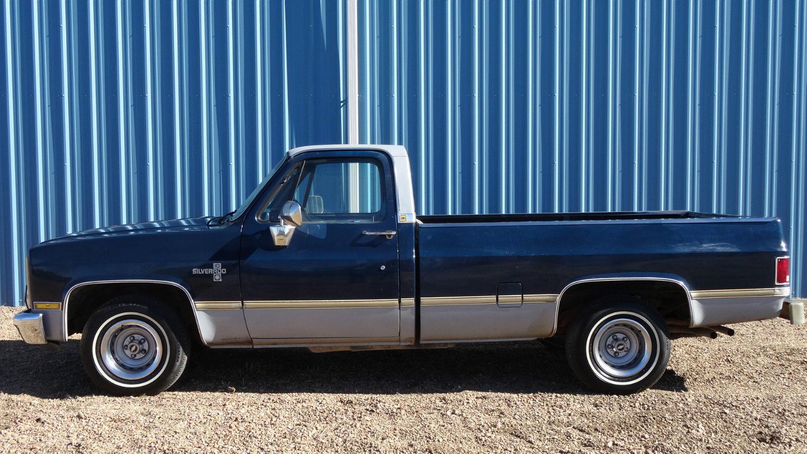 1985 chevrolet c 10 silverado longbed pickup truck for sale. Black Bedroom Furniture Sets. Home Design Ideas