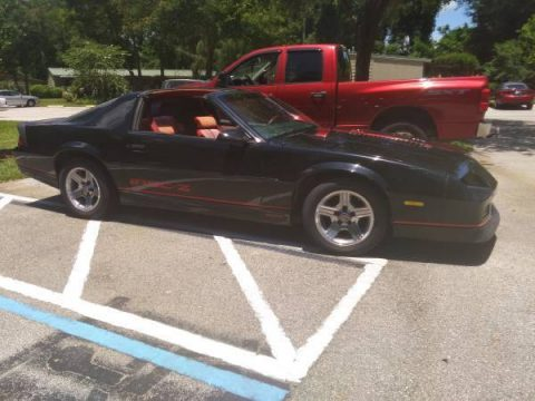 Dark black 1989 Chevrolet Camaro IROC-Z 350 TPI for sale