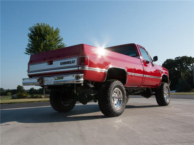 1987 Chevy Silverado K30 Single Wheel after meticulous restoration